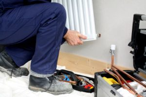 central heating installation in Charles